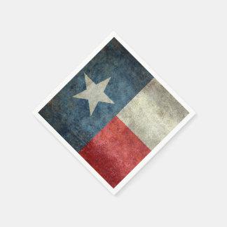 Texas-StaatsflaggenVintage retro Papierservietten