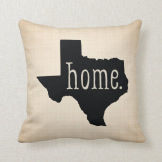 Texas State Home Black / Canvas Background Pillow Kissen