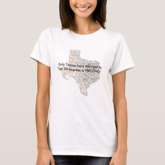Texas-Straßekarte, nur Texans haben das Recht zu T-Shirt
