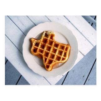 Texas-Waffel-Postkarte Postkarte