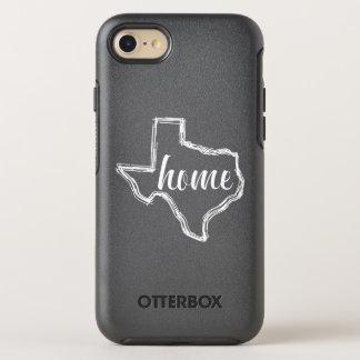 Texas-Zuhause-Staats-Kontur-Karte OtterBox Symmetry iPhone 7 Hülle