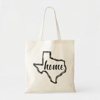 Texas-Zuhause-Staats-Kontur-Karte Tragetasche