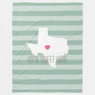 Texas-Zuhause-Staats-Liebe mit kundenspezifischem Fleecedecke
