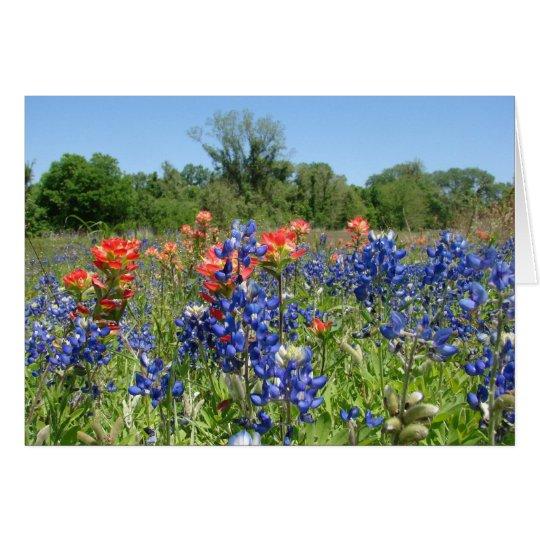 TexasBluebonnet u. Malerpinsel Notecard Mitteilungskarte