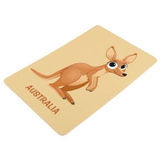 Text-Bodenmatte des niedlichen Kängurus Bodenmatte