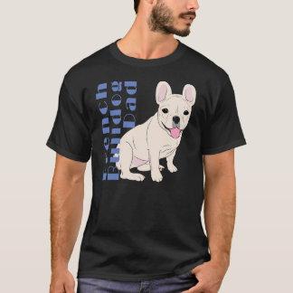 Text-Weißhund des französische Bulldoggen-Vatis T-Shirt