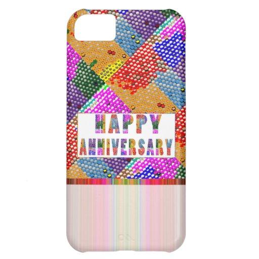 Texte artistique de HappyAnniversary Coque Pour iPhone 5C