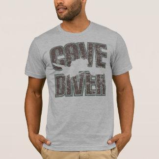 texte de plongeur de caverne affligé t-shirt