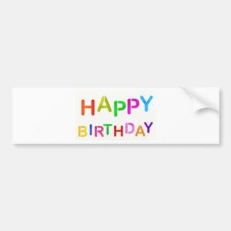 Texte espiègle de joyeux anniversaire autocollant de voiture