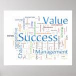 Texte relatif de valeur et de succès posters