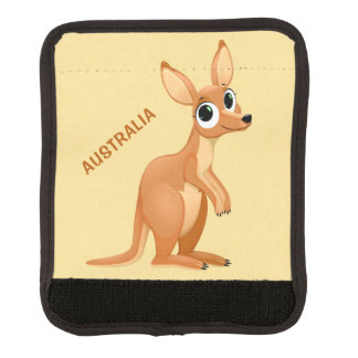Textgepäck-Griffverpackung des niedlichen Kängurus Gepäck Markierung
