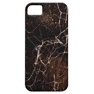 Texture foncée grunge d'impression de toile coques iPhone 5 Case-Mate