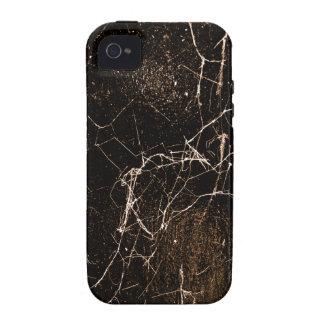 Texture foncée grunge d'impression de toile coques iPhone 4