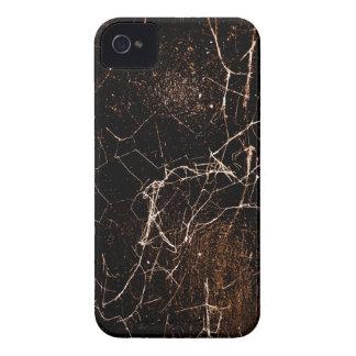 Texture foncée grunge d'impression de toile étuis iPhone 4