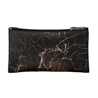 Texture foncée grunge d'impression de toile trousses de maquillage