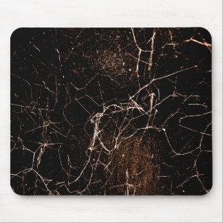Texture foncée grunge d'impression de toile tapis de souris