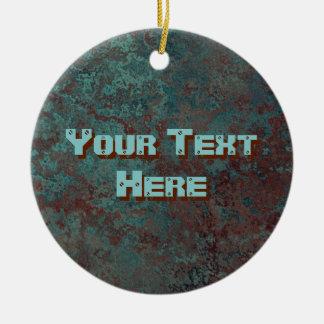 """Textverzierung Druck der Korrosion """"kupferne"""" rund Rundes Keramik Ornament"""