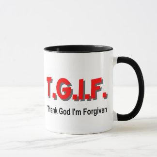 TGIF, danken Gott, den mir christliches Tasse