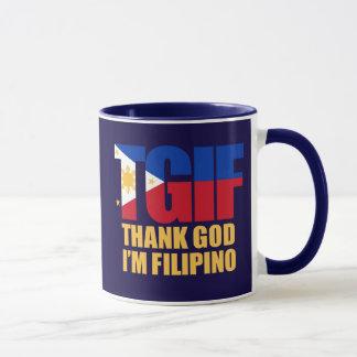 TGIF Filipino mit philippinischer Flagge Tasse
