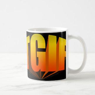 TGIF gelber Regenbogen Kaffeetasse