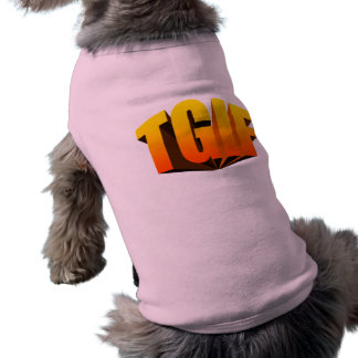 TGIF gelber Regenbogen T-Shirt
