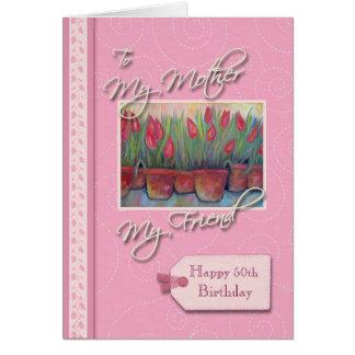 __th Geburtstag - meine Mutter, Freund Karte