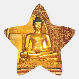 Thailand Buddha Stern-Aufkleber