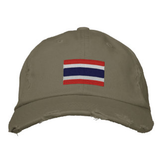 Thailand Flagge gestickte Chino-Twillkappe Bestickte Baseballkappe