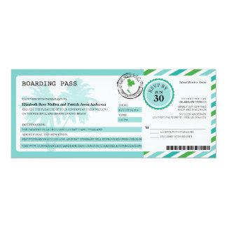 Thailand-Luftpost-Boarding-Durchlauf-Hochzeit 10,2 X 23,5 Cm Einladungskarte