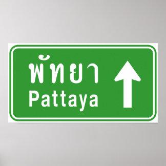 ⚠ thaïlandais de poteau de signalisation de route  affiche