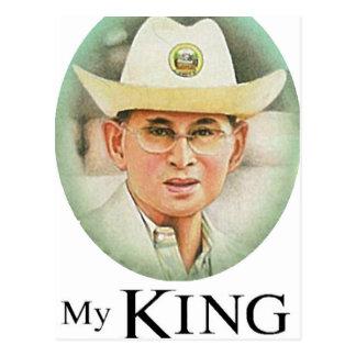 Thailändischer König Bhumibol Adulyadej - Postkarte