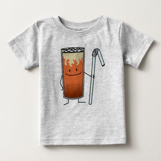 Thailändisches Eistee-u. Bendy Stroh-glückliches Baby T-shirt