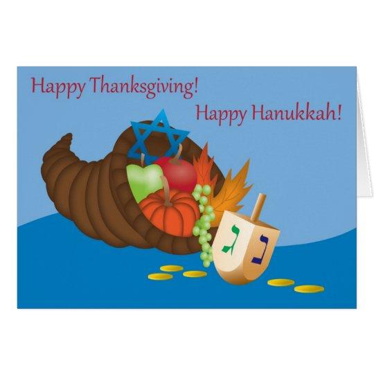 Thanksgivukkah Karte (Erntedank und Chanukka) 4