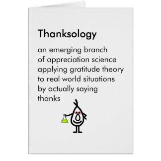 Thanksology - ein lustiges danken Ihnen Gedicht Karte