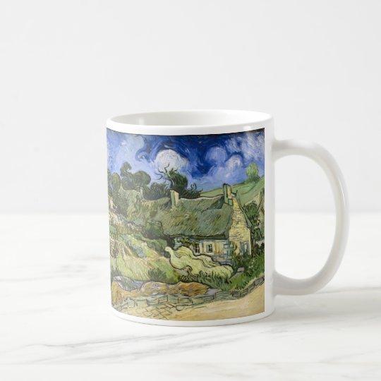 Thatched Hütten bei Cordeville - Vincent van Gogh Tasse