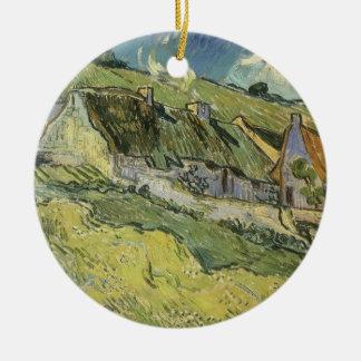 Thatched Hütten durch Vincent van Gogh Keramik Ornament