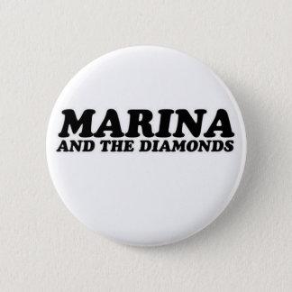 the bemannt and diamonds runder button 5,7 cm