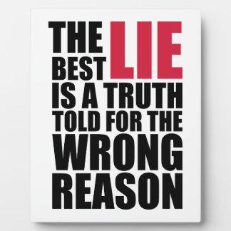 The Best Lie Fotoplatte