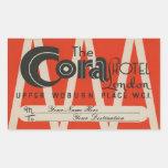 The Cora Hotel (London) Sticker Rectangulaire