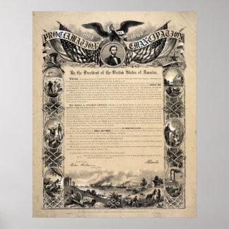 The Emancipation-Proklamations-Dokumenten-Druck Poster