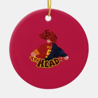 The Head Barcelona Football Reihen Rundes Keramik Ornament
