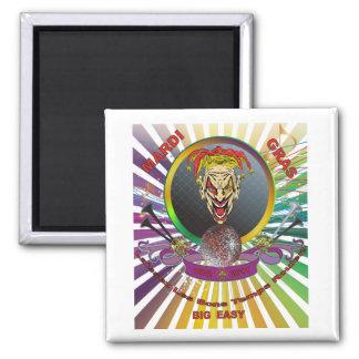 The-Joker-1-Mardi-Gras-Match-set-Trans Quadratischer Magnet