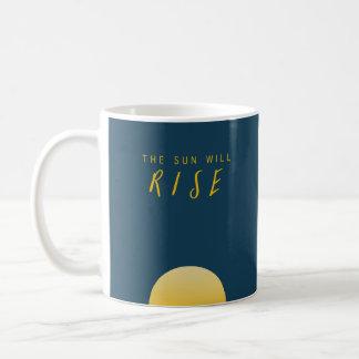 The Sun steigt Kaffeetasse