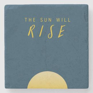 The Sun steigt Steinuntersetzer