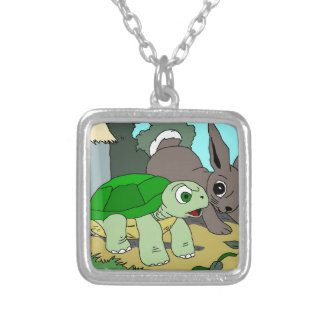 The- Tortoise and The Haresammlung 1 Halskette Mit Quadratischem Anhänger
