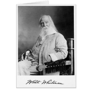 ❝The Zeit eines Mannes oder Woman❞ Whitman des Karte