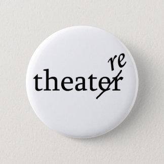 Theater gegen Theater Runder Button 5,7 Cm