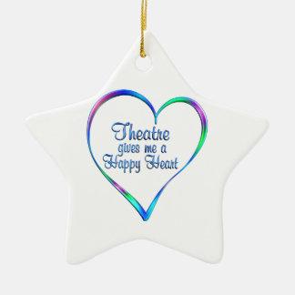 Theater-glückliches Herz Keramik Stern-Ornament