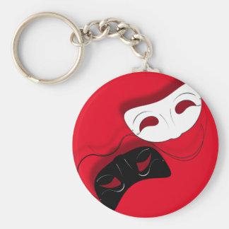 Theater maskiert Schlüsselkette Schlüsselanhänger