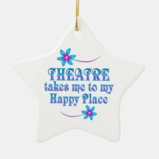 Theater mein glücklicher Platz Keramik Ornament
